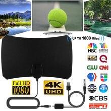 1800 milhas 4K TV Antena Amplificador Antena Gama HD 1080P TV Digital Vara Receptor Amplificador De Sinal HDTV Digital Indoor