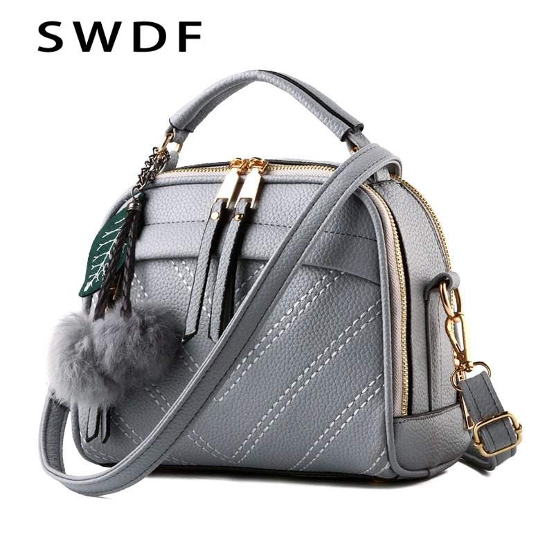 SWDF New Luxury Clutch Women Bag Over The Shoulder Bags Designer Casual Hairball Crossbody Bag Purses And Handbags Messenger Sac