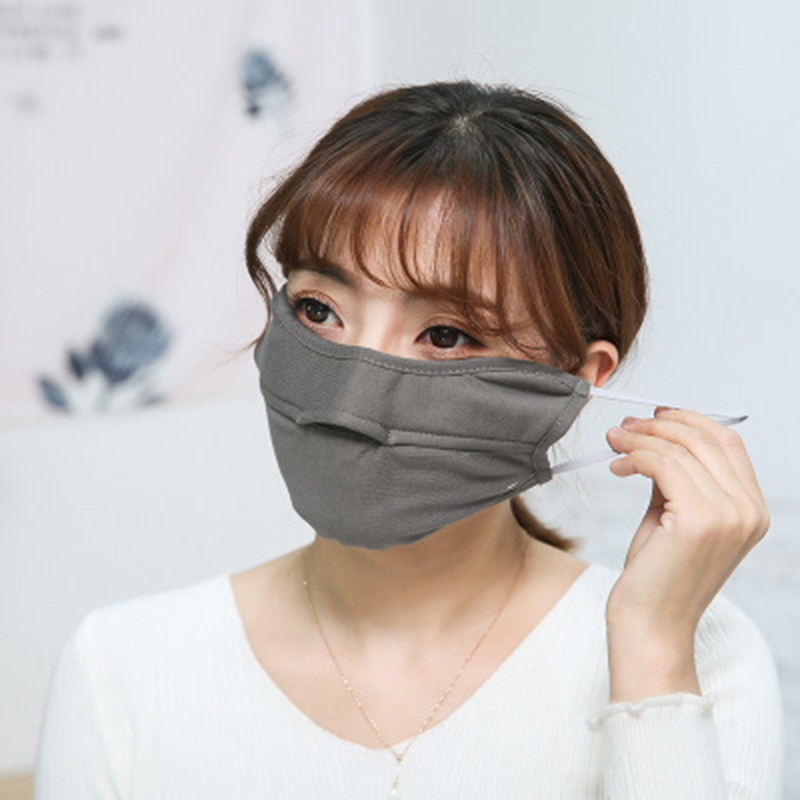 Autumn and winter men and women dustproof and cold riding black breathable thermal masks cotton anti-fog masks wholesale