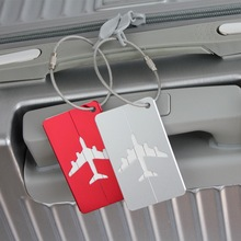 Airplane Shape Brushed  Square Luggage Tags ID Suitcase Personality Address Name Labels Travel Accessories Suitcase Board цены