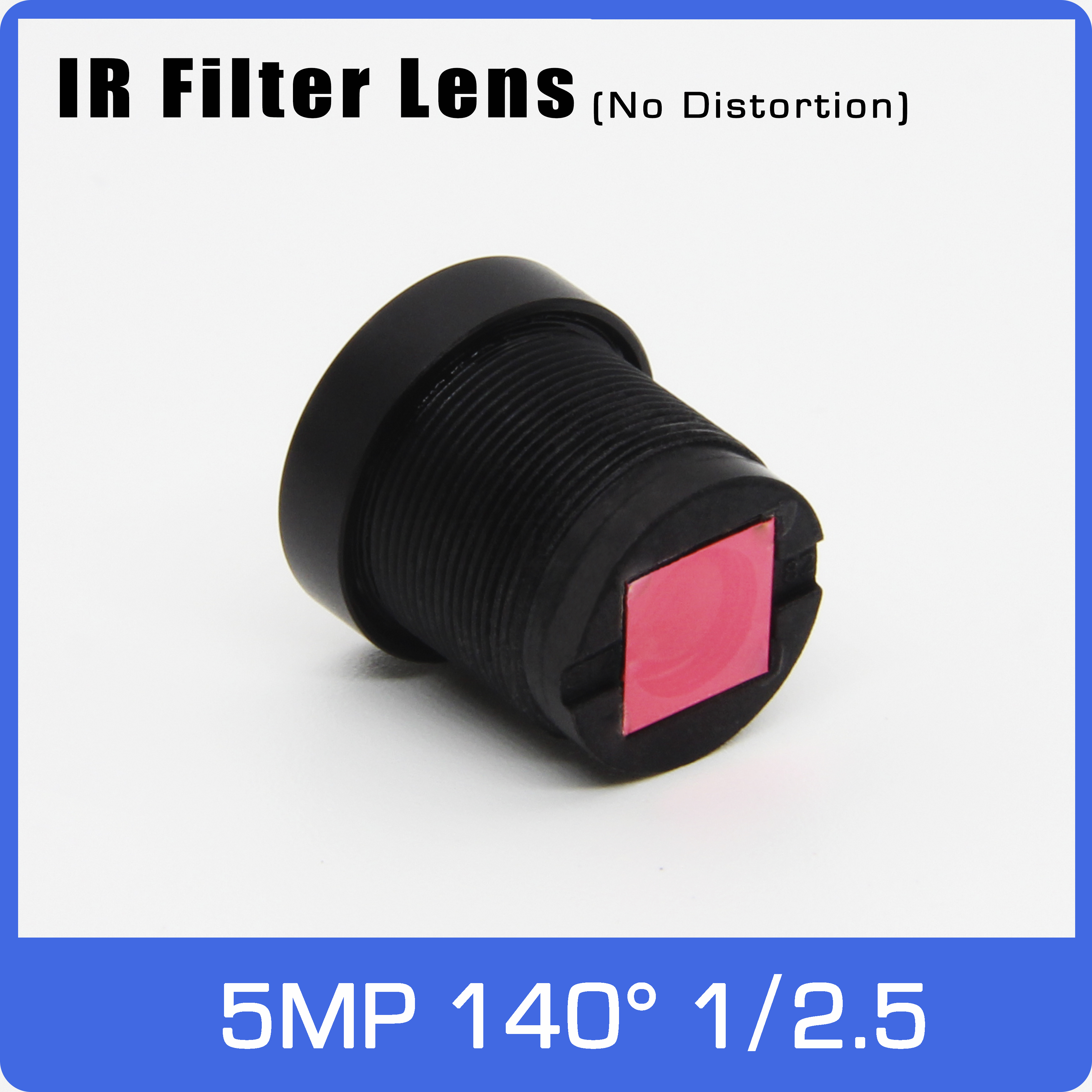IR Filter 2.5mm Wide-angle No Distortion Lens 1/2.5 Inch 140 Degree 5MP For EKEN/SJCAM Action Camera Or Car Driving Recorder