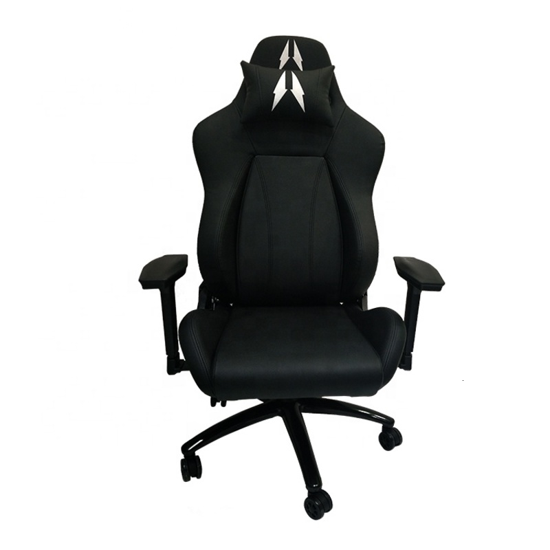 Indoor Furniture Computer Racing Game Chair Fabric Seat Adjustable Height Multi Directional Casters Flexible Move