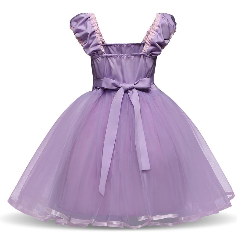Princess Costume Snow Party Cosplay Dress For Girls Kids Dress up Clothing Fancy Halloween Dress Birthday Dress 5