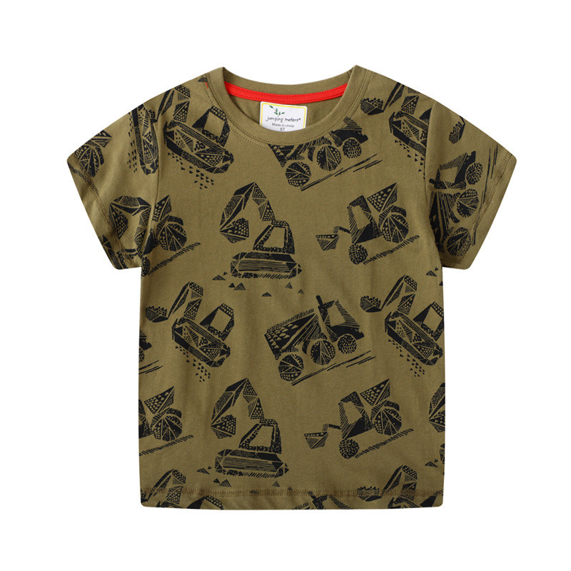 T-shirts en coton pour garçons et filles, motif de saut de mètre, tenue à la mode, pour enfants, nouveauté