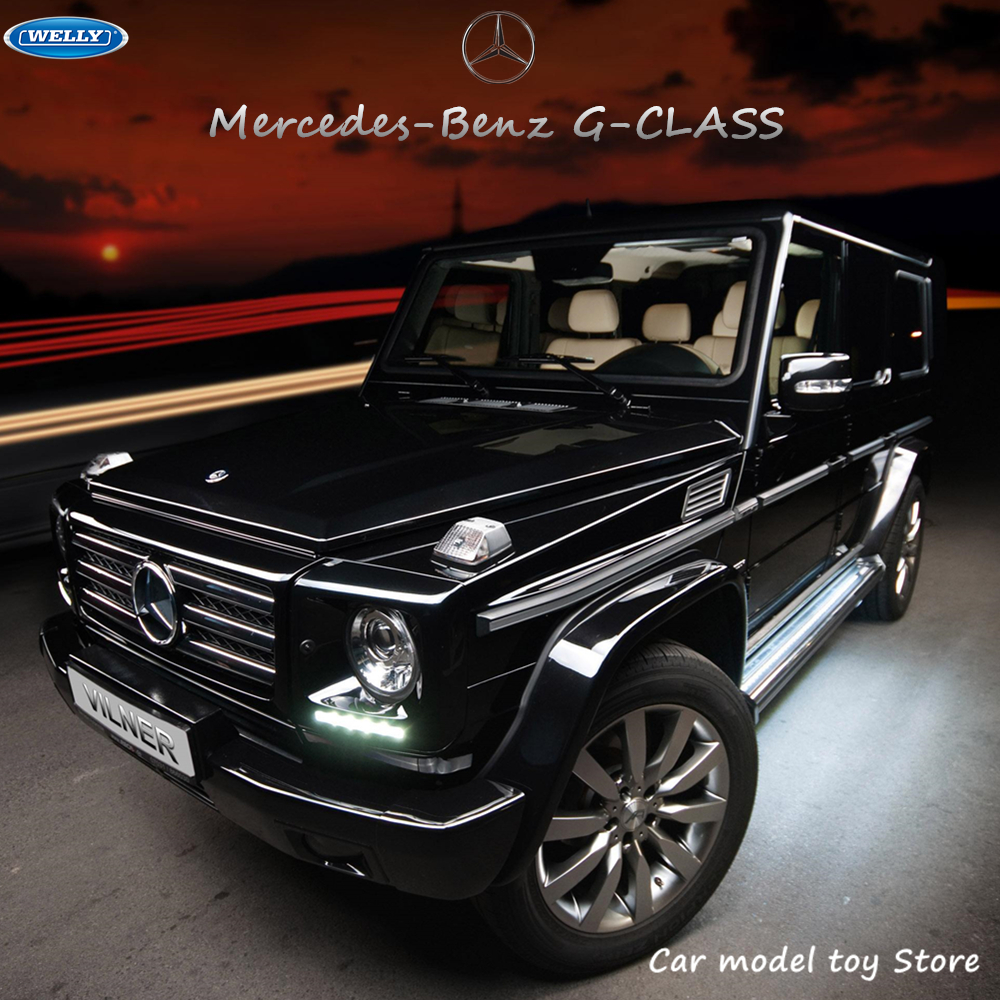 WELLY 1:24  Mercedes-Benz G-Class SUV Sports Car Simulation Alloy Car Model Crafts Decoration Collection Toy Tools Gift