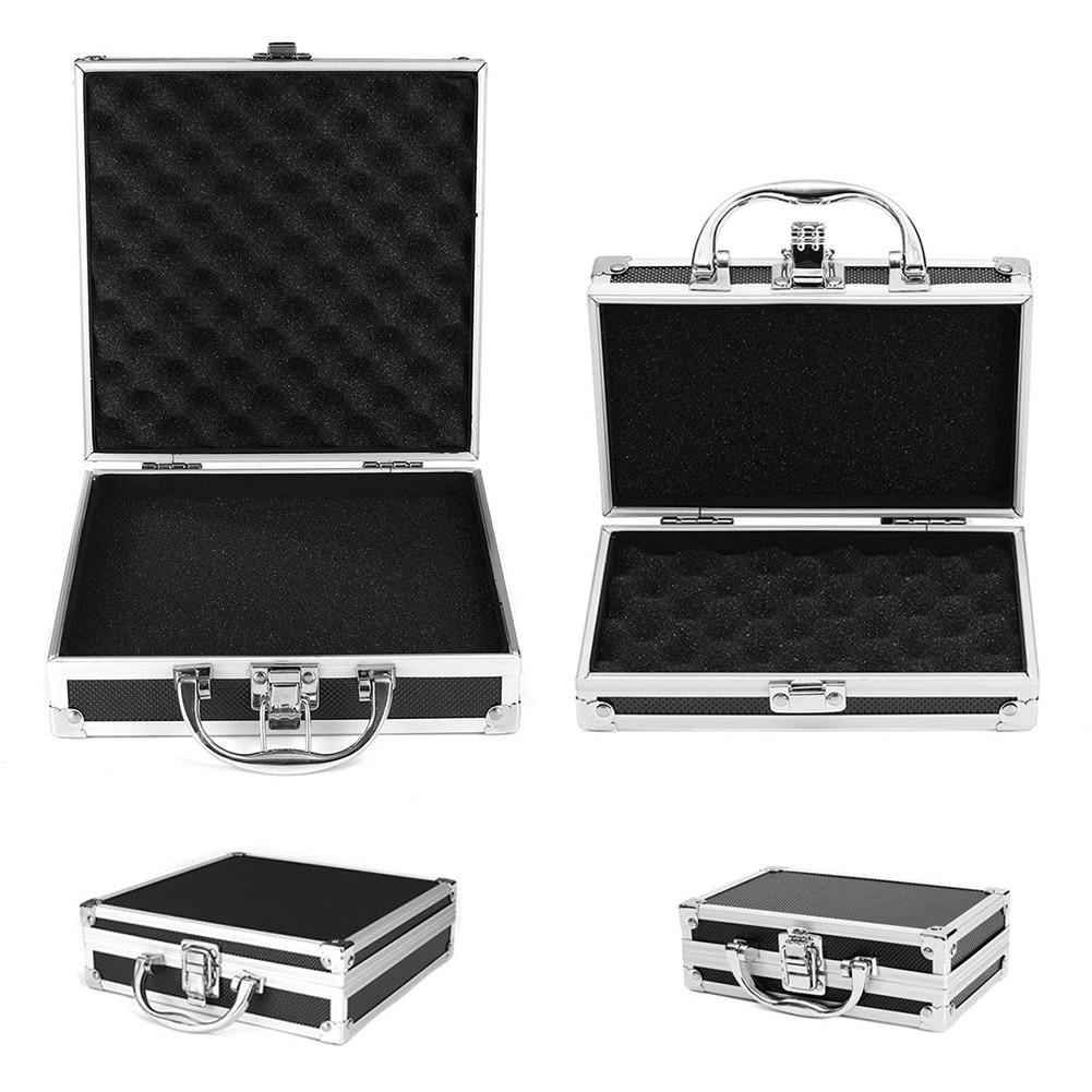 Lightweight Magic Props Durable Aluminum Alloy Sturdy Hard Carry Organiser Sponge Inside Carry Case Tool Box Portable Storage