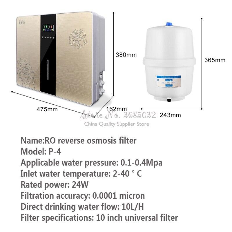 Thuis Waterzuiveraar Omgekeerde Osmose Waterzuiveraar Filter Vijfde Grade Ro Omgekeerde Osmose Thuis Pure Waterzuiveraar - 2