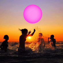 Beach Ball Swimming Pool Toy 13 Color Glowing Ball Inflatable Led Glowing Balloons Sport Party Water Game Inflatable Beach Balls(China)