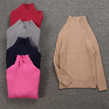 Cotton Boys Knitted Pullover Autumn Winter Baby Girls Sweaters Candy Color Kids Ribbed