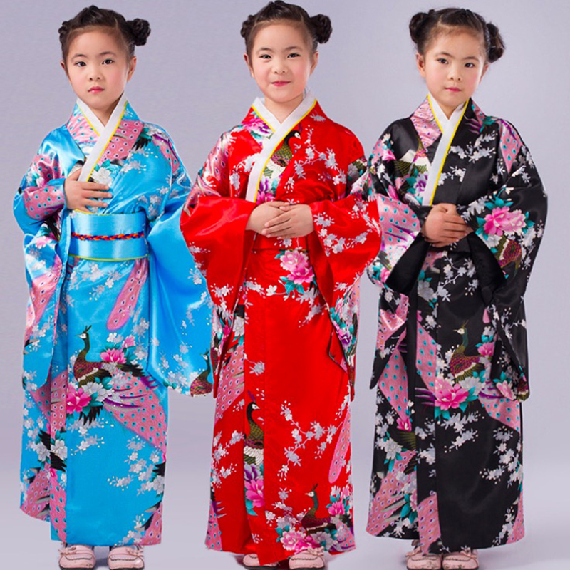 Kids Tradition Women's Style Kimono Cosplay Costumes Kimono Outfit Cosplay Costume Halloween Carnival Party Cosplay Costumes