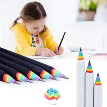 Wooden Rainbow Colored Pencil Smooth And Anti-allergic Drawing Painting Pencils Student Kids Stationery