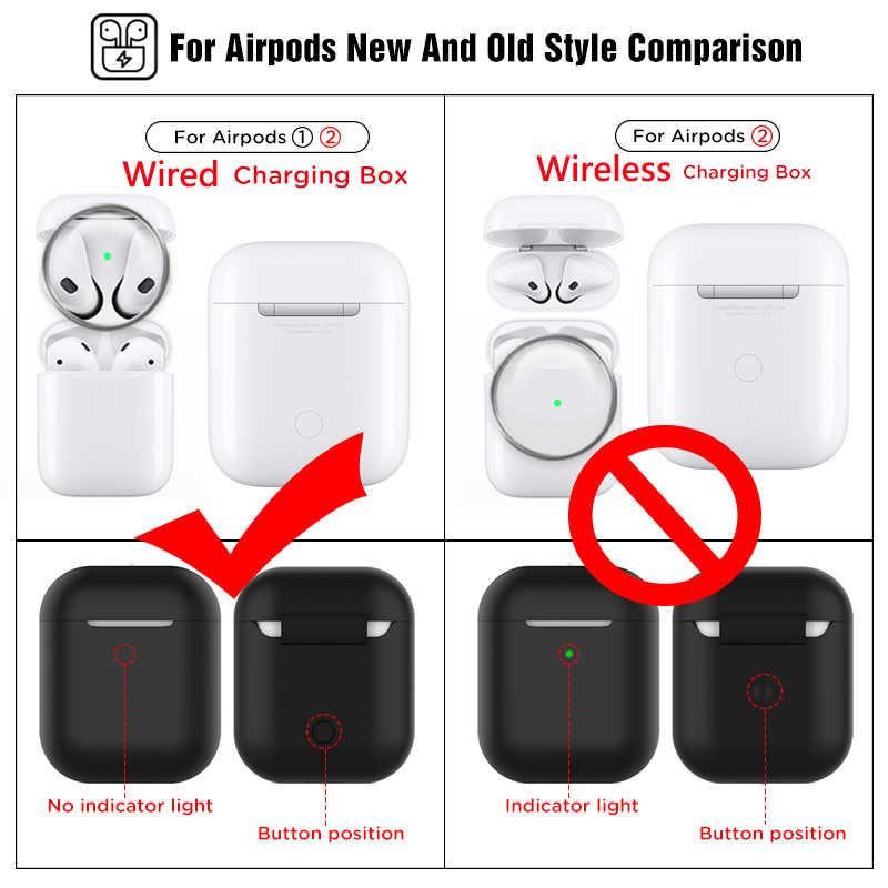Odporna na kurz odporna na zarysowania naklejka na AirPods 1 2 naklejka osłona przeciwpyłowa ochronna słuchawka folia do apple AirPods 2 1 okładka naklejki