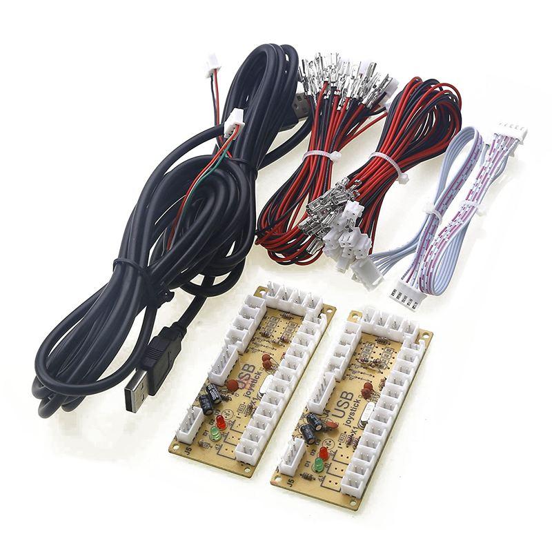 2X Null Verzögerung Arcade USB ENCODER PC ZU JOYSTICK FÜR 5PIN JOYSTICK & 2,8 MM TASTE