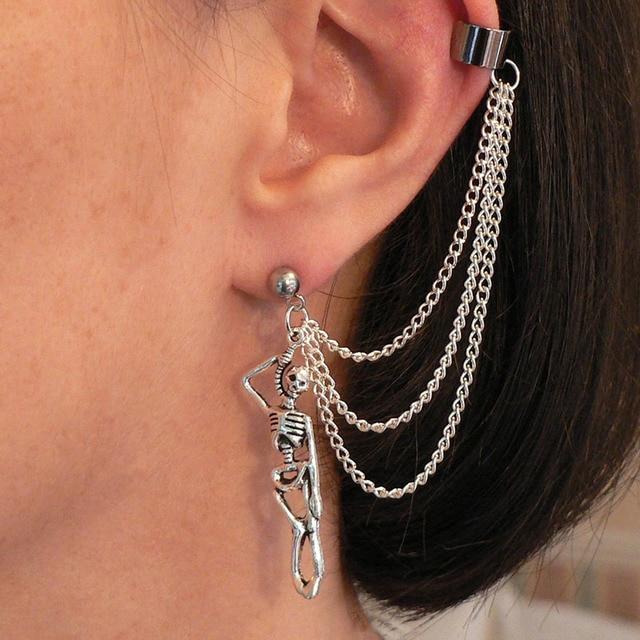 Fantasy Stud Earring With Ear-chain Cuff 5