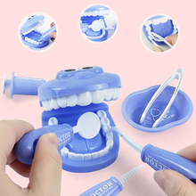 9 Pcs/Set Girls Role Play Doctor Game Dentist Simulation Dentist Treating Teeth Pretend Play Toy For Toddler Baby Kids