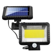 100COB LED Solar Light Motion Sensor Outdoor Recharged Waterproof Garden Lamp For Path Street Wall Spotlight