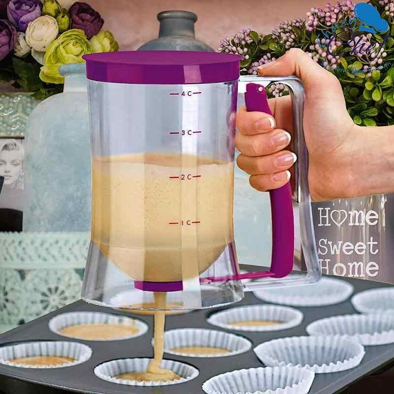 Pancake Cupcake Adonan Dispenser Alat untuk Cupcake Muffin Merinding Kue Wafel Belgia Piala dengan Alat Ukur Label Baking Aksesori