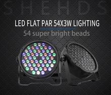 Schnelles Verschiffen LED 54x3W RGBW LED Flat Par RGBW Farbmischung DJ Waschen Licht Bühne Uplighting KTV disco DJ DMX512