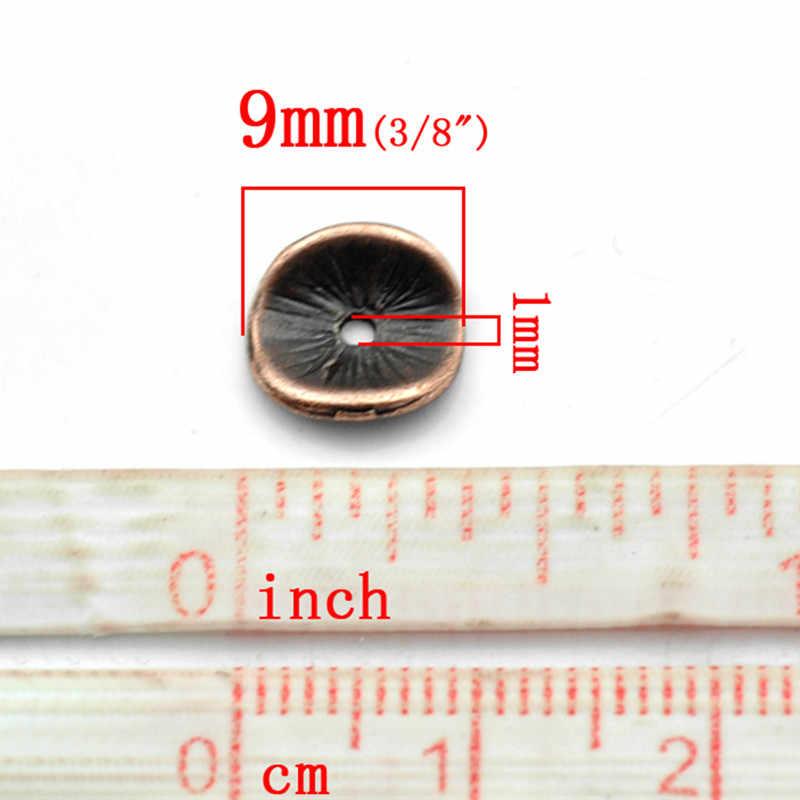 DoreenBeads Lega A Base di Zinco Mossi Distanziatore Borda Disco di Colore Rame Antico Gioielli FAI DA TE di Circa 10mm x 9mm, foro: Approssimativamente 1mm, 20 PCs