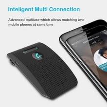 Sun Visor Clip Bluetooth 5.0 Handsfree Car Kit  Wireless Audio Receiver Speakerphone Loud Speaker Music Player with Microphone