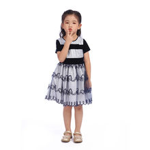 Girls Dresses Children's Casual Wear Girl Fashion Sweet Princess Party Dress Kids Child Casual Wear Black White Stripes