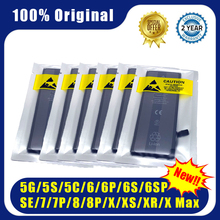 10pcs/lot New 0 cycle 100% Original iphone battery pack for apple 4 4S 5 5S 5C SE 6 6S 7 8 Plus X XR XS Max  iphone battery apple original earpods earphone md827 white for iphone 4 4s 5 5s se 6s plus