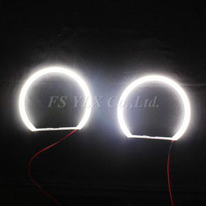 Image 5 - 2x131mm+2x146mm SMD LED Angel Eyes  E46 Non Projector For BMW SMD LED Angel Eyes Rings WHITE 3 series coupe/cabrio sedan