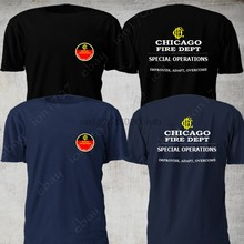 Chicago Fire Dept. Speciale Operaties Firefighter Departement Fire t-shirt(China)
