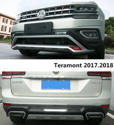 Dla Volkswagen/VW Teramont 2017.2018 osłonka na zderzak listwa ochronna zderzaka wysokiej jakości ABS przód + tył akcesoria samochodowe