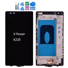 Original para lg x power k220ds k220 display lcd com tela de toque digitador assembléia com quadro frete grátis