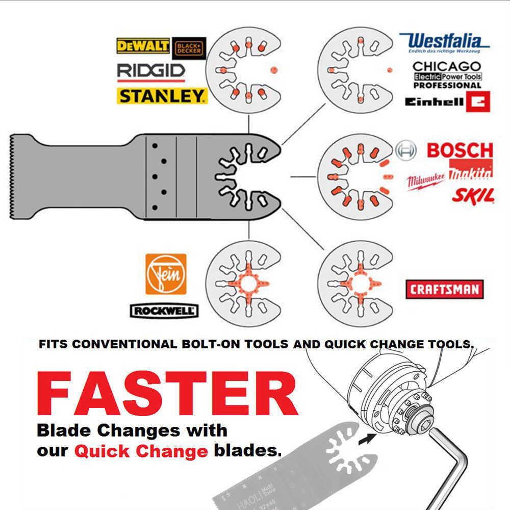 NEWONE Quick-Release 10/20/32/45/65mm Bi-metall Oszillierende MultiTool Erneuerer sägeblätter BIM klingen Power werkzeug zubehör