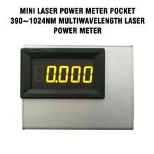 TZT 0 10W 390 ~ 1024nm מיני לייזר כוח מטר כיס Multiwavelength לייזר מד כוח מכשירי חשמל