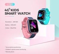 4G Kids Smart Horloge Gps Tracker Kinderen Klok Waterdichte Video Call Remote Luisteren Gps Lbs Wifi Positionering Kids Horloges LT21