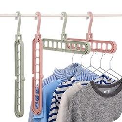 9-hole Clothes Hanger Closet Organizer Space Saving Hangers Folding Magic Hanger Storage Rack for Coat Scarf Tie Drying Rack