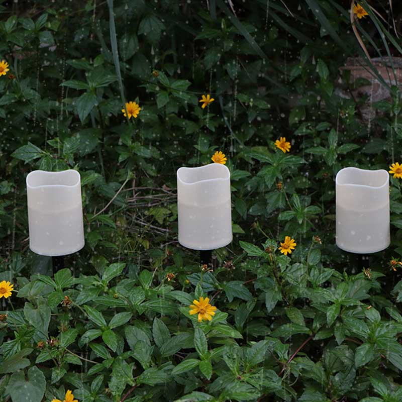 3 or 6 pieces Flameless Battery Solar Candles With Waterproof Function,Outdoor Garden Decoration Night Lamp LED Candle Light