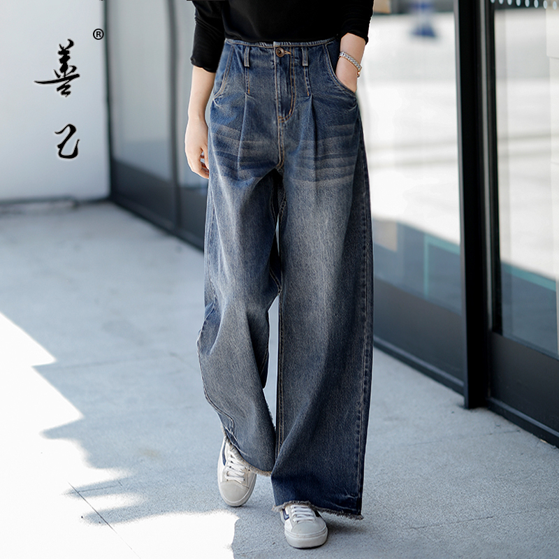 Free Shipping 2020 New Long Pants For Women Trousers Plus Size Denim Wide Leg Jeans Size S-3XL Autumn Embroidery High Quality