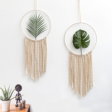 2pcs Set Macrame Cotton Mandala Tapestry Wall Hanging Hand woven Turtle Leaf Living Room Bedroom Decoration Wedding Decoration