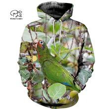 PLstar Cosmos Parrot Art Animal Tracksuit 3DPrint Hoodie/Sweatshirt/Jacket/shirts MenWomen Casual Harajuku camo colorful style-3