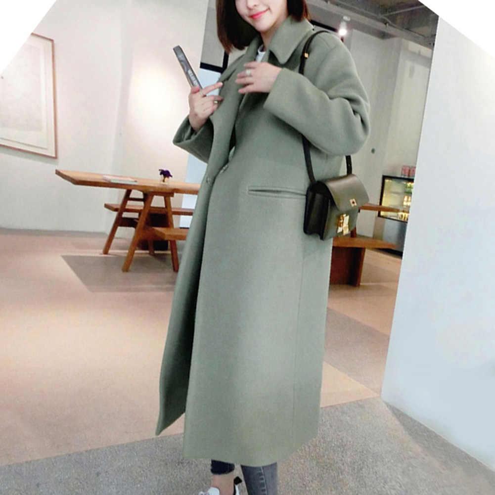 Casaco feminino, casaco da moda para mulheres, de cor sólida, grosso, de outono e inverno, quente, casaco camuflado, design da moda