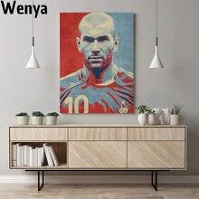Zidane hopestyle arte finala design cartaz da parede lona artista decoração para casa estampas crianças quarto família decoração