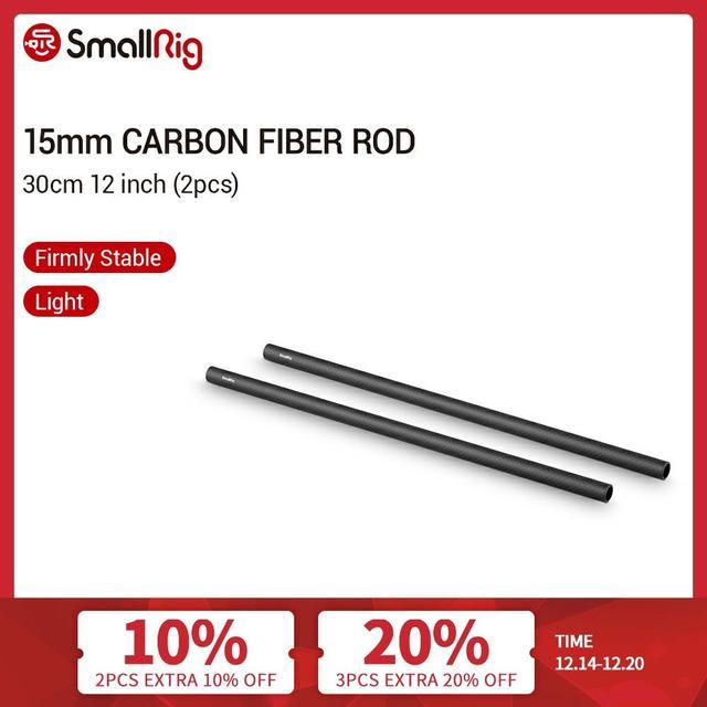 Smallrig 15 Mm Carbon Hengel 30 Cm 12 Inch Lange Voor 15 Mm Rod Klem/Support Systeem, pak Van 2 Stuks 851