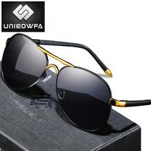 Óculos de sol de prescrição de aviação homem polarizado uv400 óculos de sol para homem óptico miopia grau óculos piloto marca