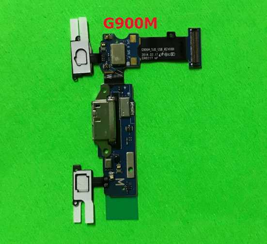 50 ชิ้น/ล็อตสำหรับ Samsung S5 G900F G900A G900T G900V G900P G900M USB ชาร์จพอร์ต Dock FLEX CABLE