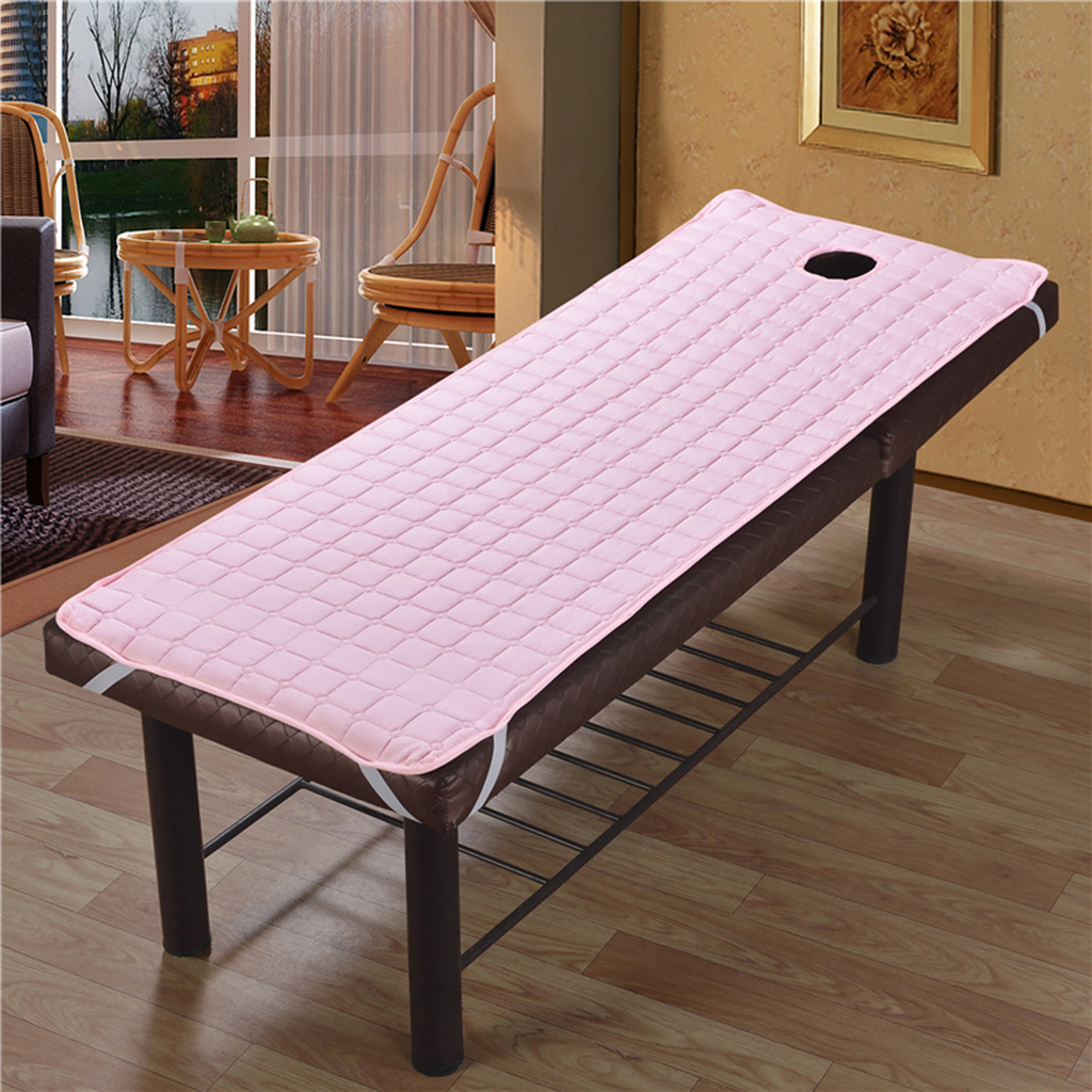 Soft Warm Velvet Massage Bed Table Cover Salon Spa Couch Bed Sheet with Hole