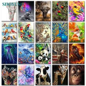 SDOYUNO 5d DIY pintura de diamantes 20x25 iconos cuadrados completos bordado diamante pintura hobby Panda animales diamantes de imitación hecho a mano