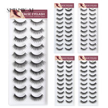 10 pairs/pack Faux 3d Mink Lashes Natural False Eyelashes Extension Soft Beauty Makeup Cruelty free