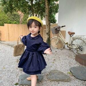 Image 4 - Ensembles de vêtements de princesse à manches longues avec mini jupe en coton de style coréen, à la mode, pour bébés filles, printemps nouveauté