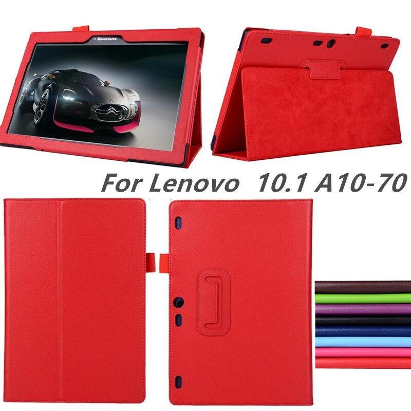 Para lenovo tab2 a10-70 A10-70F/l a10 30 x30f caso inteligente flip leathercover para lenovo tab 2 A10-70L a10 tablet 10.1 case tablet tablet caso