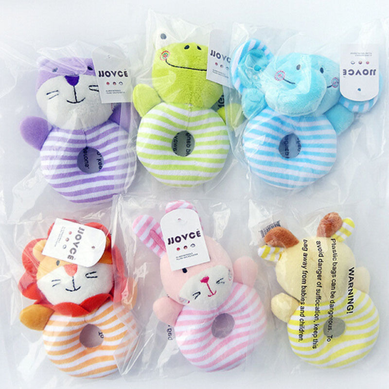 New Style Stuffed Animals Soft Plush Rattle Toys Cotton Cartoon Cushion Pillow Boys Girls Cuddle Toddler Infant Baby Toy in Stuffed Plush Animals from Toys Hobbies
