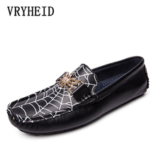 VRYHEID Brand Spring Summer New Moccasins Men Loafers High Quality Genuine Leather Shoes Flats Lightweight Driving